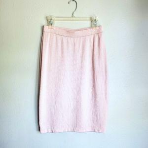 St. John Santana Knit Wool Pencil Skirt Pink 6